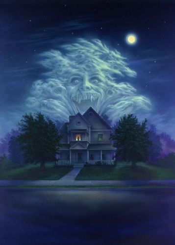 1980's Movie - FRIGHT NIGHT - POSTER ART TEXTLESS canvas print - self adhesive poster - photo print